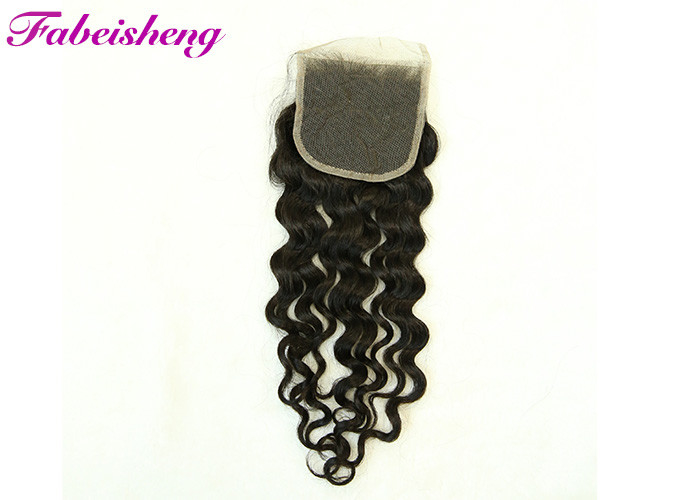 None Chemical 4*4 Lace Closure Italian Body Wave Hair Can Be Dyed , Ironed