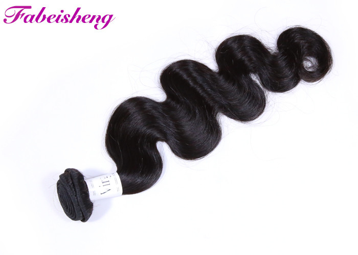 Smooth Human Virgin Hair Extensions Unprocessed Double Drawn Bundles Body Wave