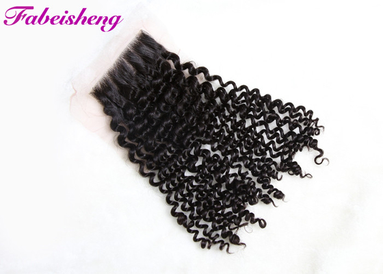 چین Human Free Part Lace Closure Peruvian Curly Hair Bundles 100% Unprocessed کارخانه